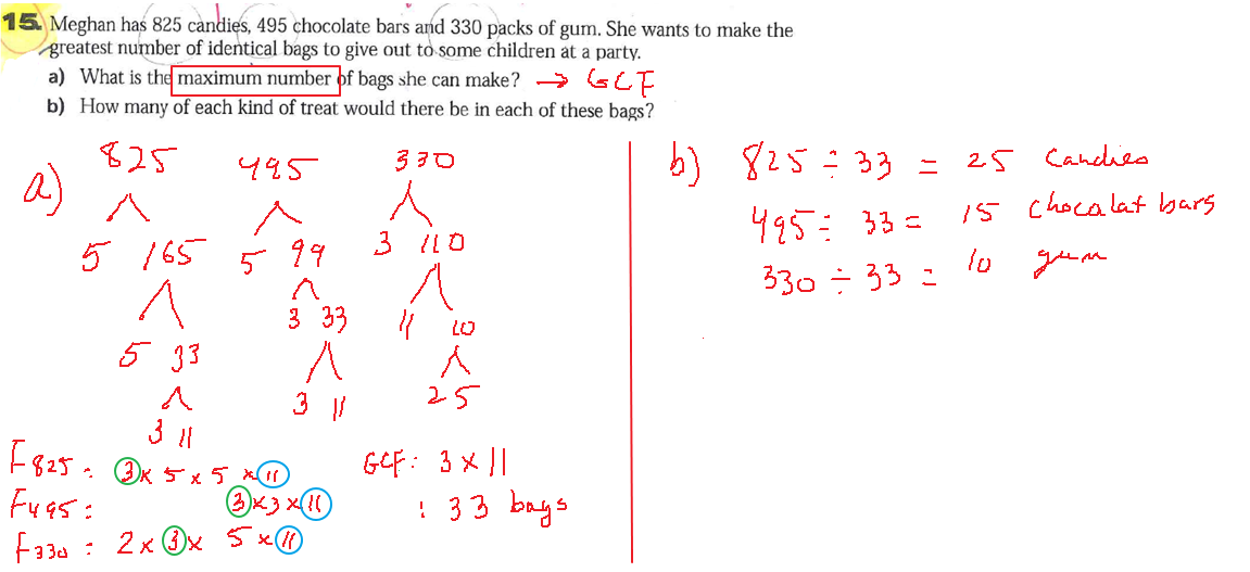 Least common multiple worksheets with answers